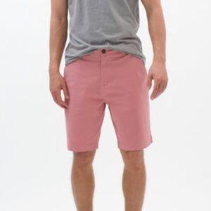 "Aeropostale Stretch Classic Shorts 9.5"" Pink Sz 30"